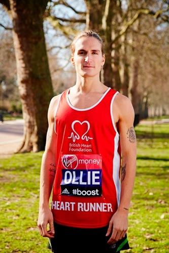 Oliver Proudlock in BHF running vest