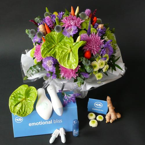 Aphrodisiac-themed floral arrangement