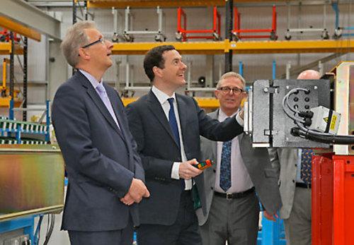 George Osborne at Street Crane Company