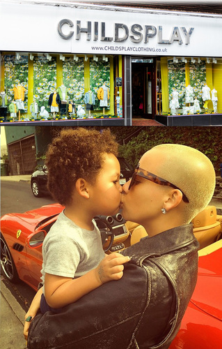 Amber Rose visits Childsplay Clothing fo