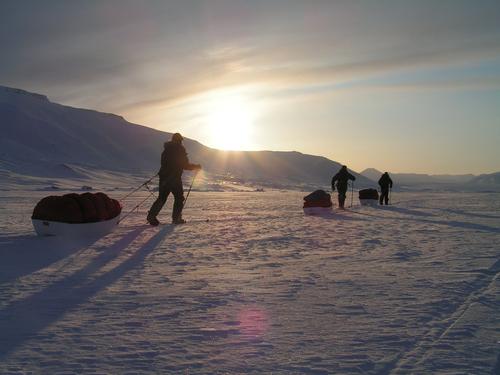 Training in Bolterdalen Svalbard