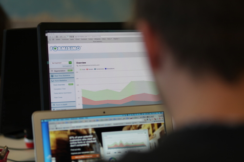 Photo of Formisimo software being used