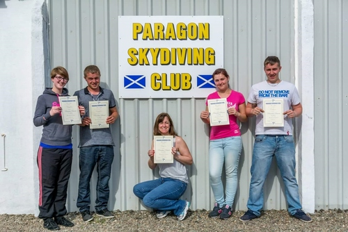 The skydiving team
