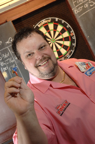 PDC darts star Peter Manley