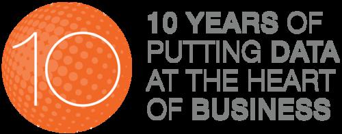 Data8 - 10 Year Celebration Logo