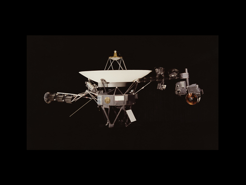 Voyager 1 Space Probe with Golden Record