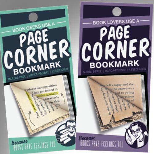 Page Corners bookmarks