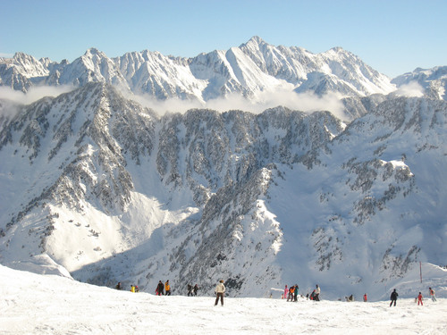 Skiing in Cauterets, French Pyrenees