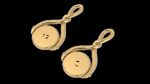 WIshbone spinner pendant in gold