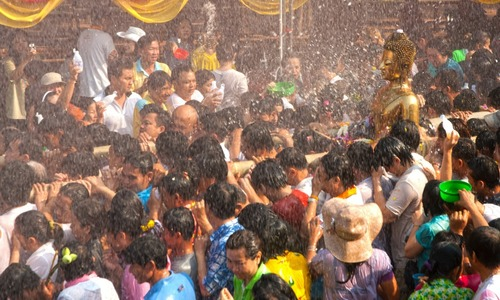 Songkran water celebration