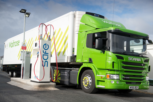 Waitrose trucks fill up on renewable CNG