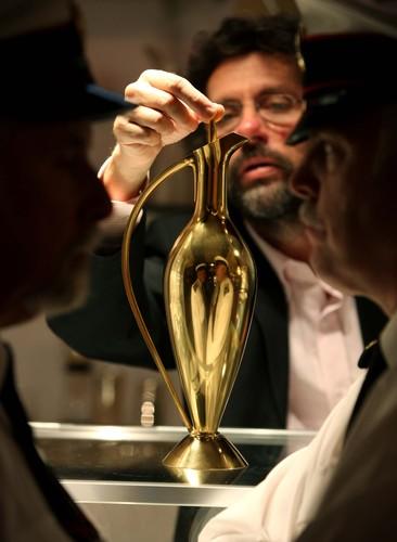 Martyn Pugh with gold claret jug