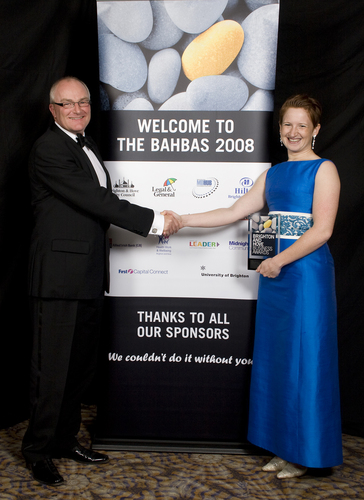 Rosie Freshwater accepting the BAHBA