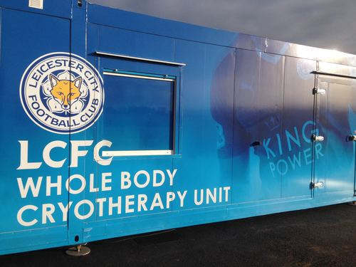 Leicester City cryotherapy chamber