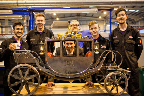 The winning students with their weld