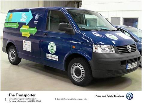 MPG-winning Volkswagen Transporter van