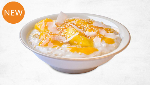 pod's new Summer Glow Mango Porridge