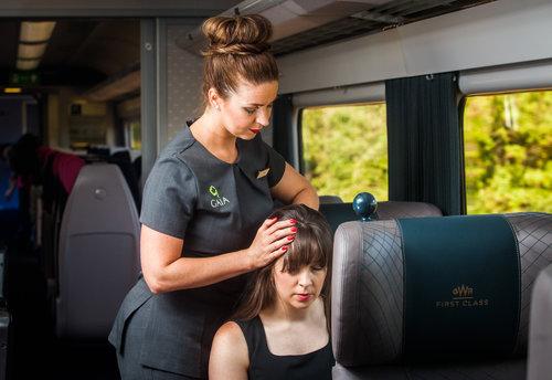 On-board head massage