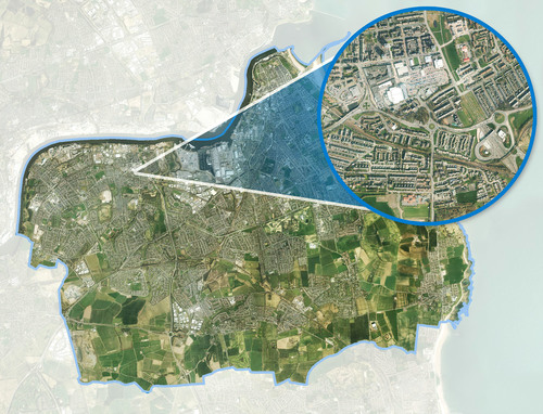 Bluesky aerial image - South Tyneside