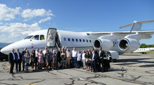 A private jet left Birmingham