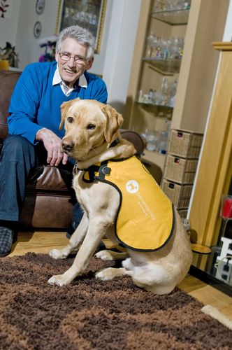 Dementia Dog Kaspa with Ken his owner