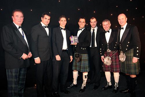 The NSDesign team accepting the award