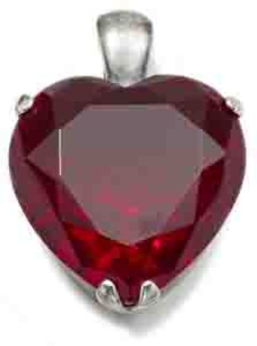 EN405 - Luxurious garnet heart enhancer