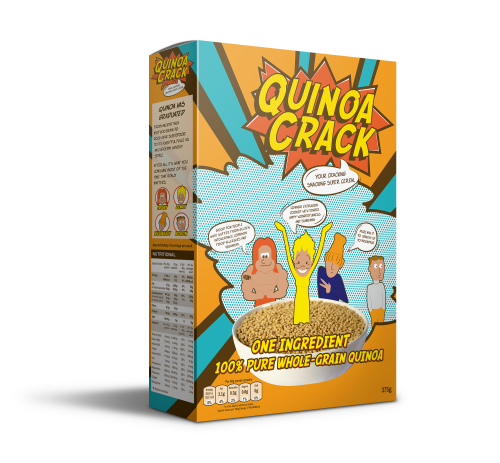 Quinoa Crack, the new 100% quinoa cereal