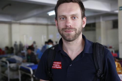 Peter Skelton in Kathmandu, Nepal