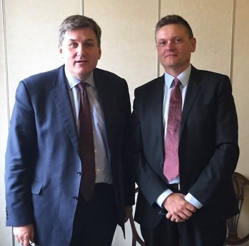 Kit Malthouse MP with Phillip Kizun