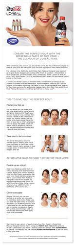 Diet Coke + L&#039Oreal Beauty Hacks mailer