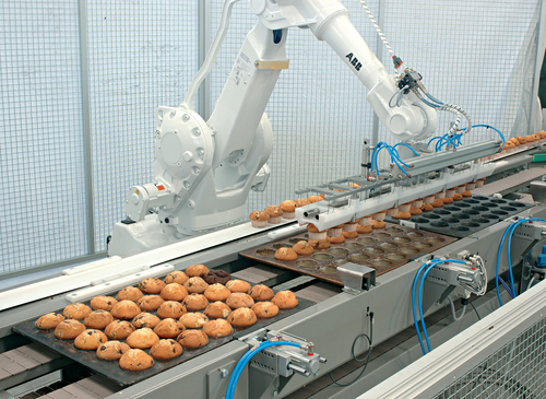 ABB robot in bakery application