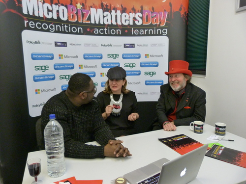 Sway, Tina Boden and Tony Robinson OBE