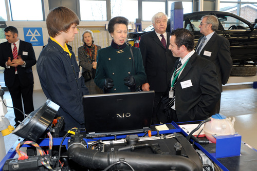 Princess Anne in Wolds College