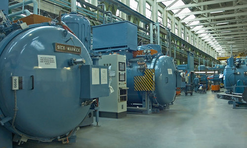 Vacuum furnaces at Wallwork Group - Bury site