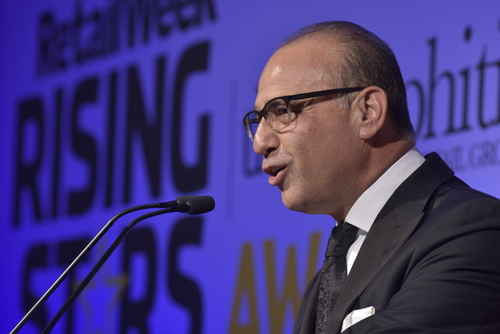 Theo Paphitis giving a speech in 2016