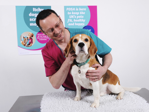 PDSA vet and pet