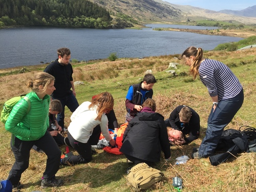 Emergency simulation in Lake District