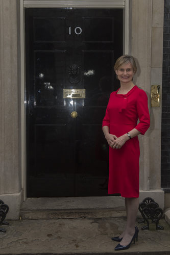 Laura Young outside No.10 Downing Street