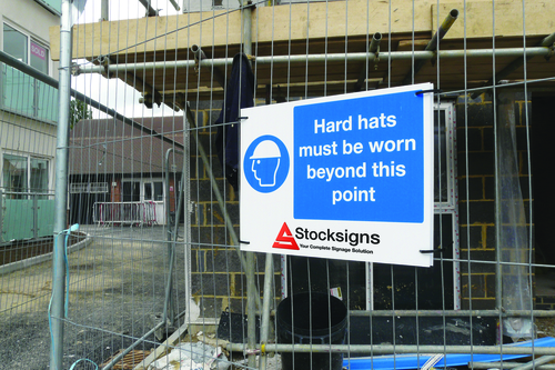 An example of a site safety sign