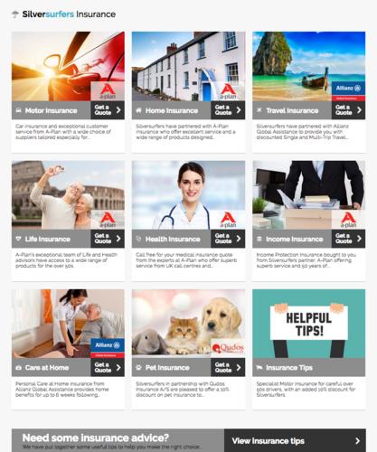 Silversurfers.com insurance