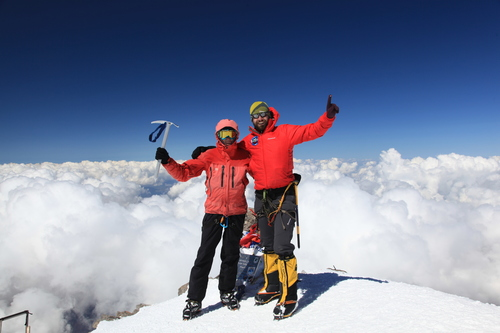 Ricky on summit of Elbrus in 2013