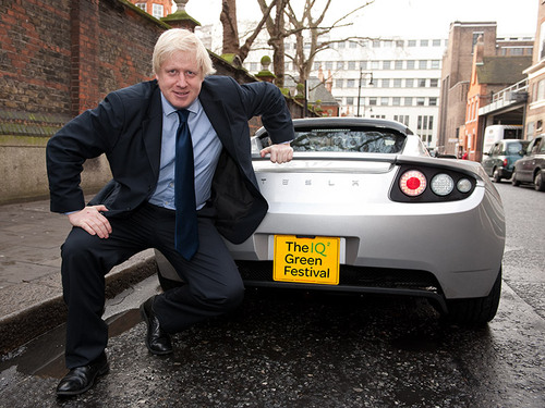 Boris with First Electric Sports Car