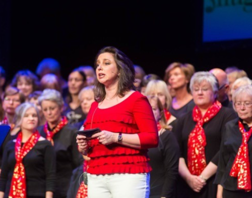 Louise Camby and Choir