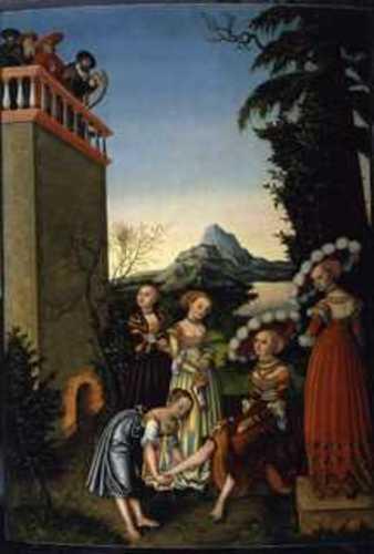 David & Bathsheba (1534)  Lucas Cranach