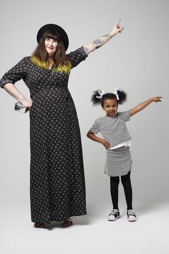 Model Katie and Stylist Inayia