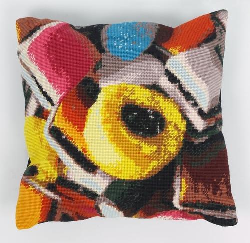 'Allsorts' tapestry cushion