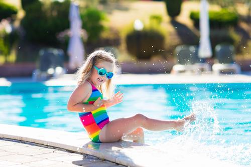 Young girl enjoys the UK sunshine