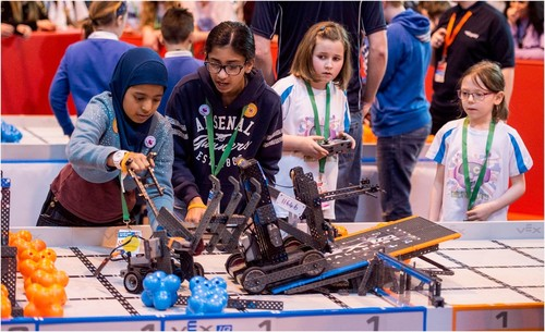 Girls at VEX Robotics Championships
