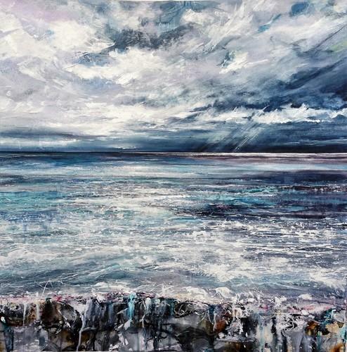 A gentle roar in the sea Studio Painting